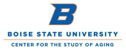 Boise State University's Center for the Study of Aging logo